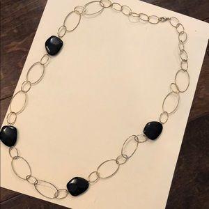 Black Long Chain Necklace